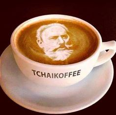 Hahaha don\'t know why I find this so funny! #coffee_art #music_humor #funny