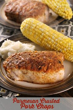 Parmesan Crusted Pork Chops ~ Quick and Easy Pan Fried Pork Chops Coated in a Crunchy Parmesan Coating! Can't say I make a lot of pork chops but I've had Pan Fried Pork Chops, Parmesan Pork Chops, Butterflied Pork Chops, Pork Recipes, Veggie Recipes, Cooking Recipes, Recipies, Paleo Recipes, Delicious Recipes