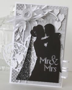 Wedding card using Sihlouette