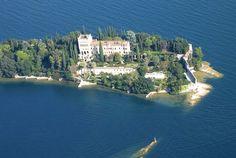 Isola del Garda aus der Luft