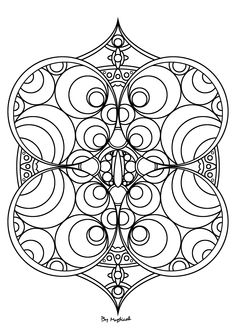 Mandala Adult Coloring PagesStained GlassZentanglesColouringArt
