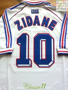86d8d3aa3 Relive Zinedine Zidane s 1998 World Cup with this vintage Adidas France  away football shirt.