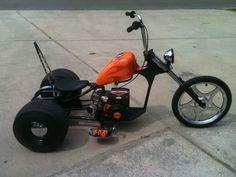 Mini bike diy drift trike Ideas for 2020 Mini Chopper Motorcycle, Mini Motorbike, Chopper Bike, Mini Bike, Motorcycle Bike, Bike Drift, Drift Trike Motorized, Trike Bicycle, Diy Go Kart
