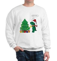 For all those who have this problem, enjoy this T-rex hates Christmas Sweater for only $49.50 #UglySweater #Swagbucks#CandyCaneGang