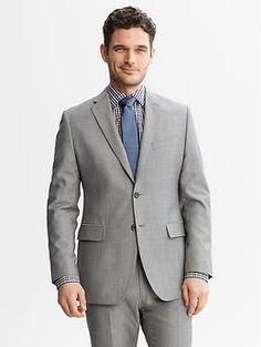 Matt's suit  Tailored-Fit Grey Wool Suit Jacket | Banana Republic