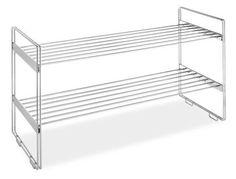 Whitmor 6175-861 Stackable Closet Shelves, Chrome Whitmor