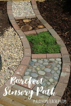 DIY Sensory garden path such a cool idea! DIY Sensory garden path such a cool idea! More The post DIY Sensory garden path such a cool idea! Garden Paths, Garden Art, Garden Design, Garden Kids, Path Design, Landscape Design, Garden Ideas Children, Gardens For Kids, Backyard Ideas For Kids