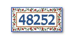 Address Plaque Address Numbers House Numbers by AyeBarDesigns