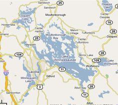 Lake Winnipesaukee Map