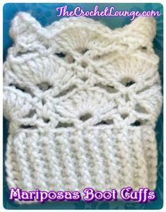 Mariposas Boot Cuffs - Free Crochet Pattern | The Crochet Lounge™