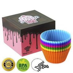 MUST HAVE SILICONE BAKING CUPS ★ PREMIUM QUALITY ★ FREE DESSERT BOX ★ FREE RECIPES E-BOOK ★ EASY TO CLEAN ★ EASY TO PEAL ★ BPA FREE & FDA APPROVED ★ DISHWASHER SAFE ★ MICROWAVE SAFE ★ FREEZER SAFE