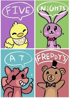 So... Cute... I just wanna... Huge them <<<< Huge them? Idk, Freddy's already pretty tall as he is...