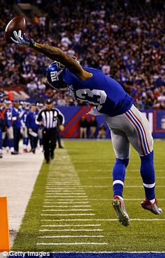 Lauded: Odell Beckham Jr. brought the Giants to a 14-3 lead against the Dallas Cowboys in Sunday night's game