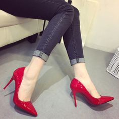 New nude color pointed high heels stiletto shallow mouth sexy black patent leather work shoes women's shoes High Heels Stilettos, Women's Pumps, Stiletto Heels, Shoes Heels, Club Shoes, Classic Pumps, Party Shoes, Womens High Heels, Fashion Shoes