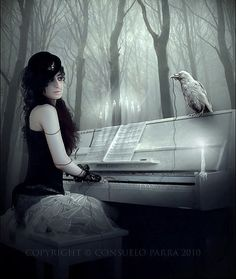 Cd cover available - monster by Consuelo-Parra on DeviantArt Gothic Pictures, Gothic Images, Gothic Art, Steampunk, Dark Forest, Cd Cover, Dark Fantasy Art, Les Oeuvres, Raven