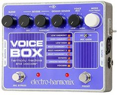 "The Electro-Harmonix Voice Box is a powerful harmonic processor and vocoder that can simply offer you 2 or backup harmonies or go ""O Superman"" Digital Piano Keyboard, Brian Wilson, Used Guitars, Phantom Power, The Beach Boys, Guitar Effects Pedals, Guitar Pedals, Gender Bender, Musical Instruments"