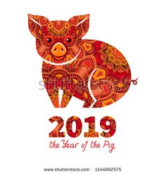 Chinese New Year 2019 Jumper Zodiac Sign Pig Year 2019 Festive Gift Jumper Top