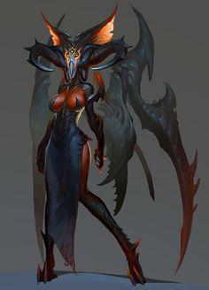 monster by CheolSeung _ on ArtStation. Monster Concept Art, Alien Concept Art, Creature Concept Art, Monster Art, Creature Design, Female Monster, Fantasy Monster, Alien Character, Character Art