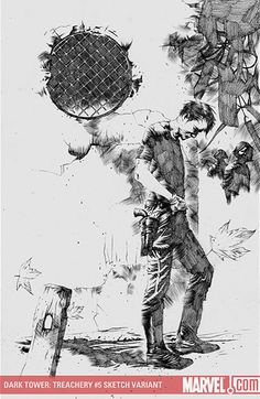 The Dark Tower: Treachery 5, Sketch Variant / Jae Lee (Artwork), Richard Isanove (Coloring)