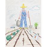 Le Jardinier (34x44) gouache et encres sur papier  http://www.alainhilleret.org/picture.php?pic=18&lang=fr