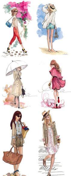 Ideas for fashion illustration art style watercolors Portfolio Mode, Fashion Portfolio, Portfolio Ideas, Portfolio Design, Fashion Art, Trendy Fashion, Girl Fashion, School Fashion, Artist Fashion