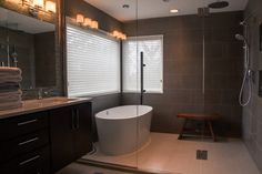 Egret - contemporary - bathroom - portland - Capital Builders, LLC