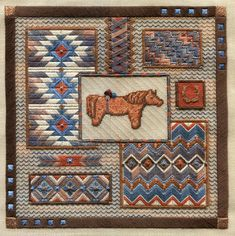 Just a few quick notes, Stitchers: If you recently purchased my LONG HORSE COLLAGE , there's a thread number boo-boo on the Materials. Needlepoint Stitches, Needlework, Cross Stitch Flowers, Cross Stitch Patterns, Monks Cloth, Swedish Weaving, Bargello, Crochet Squares, Blackwork