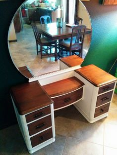 Vanity fully refinished by Mini Masterpieces AZ. www.minimasterpiecesaz.com facebook.com/minimasterpiecesaz