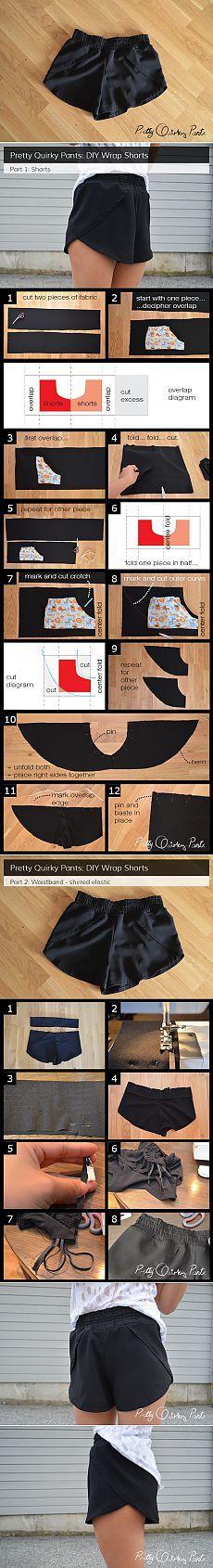 Как сшить шорты с лепестками (DiY) / Простые выкройки / Своими руками - выкройки, переделка одежды, декор интерьера своими руками - от ВТОРАЯ УЛИЦА