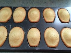 They're done!  Hot, fresh madeleines!  Now for some chocolate dipping!