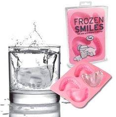 This link takes you to collection of creative ice cube trays!  Having an Over-the-Hill party for a friend?  Use the denture ice!  From Titanic shaped ice to space invaders ice, there's something for every here!