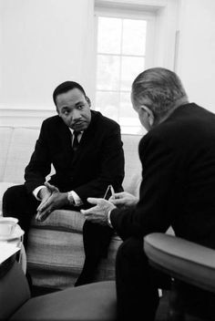 Dr. King, who knew Johnson before Presidency, visited the White House in the first month after Johnson took office.