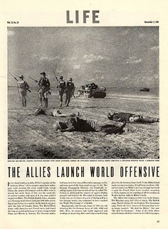 """1942 Allies Launch World Offensive Original World War 2 WW2 Print Ad -An original vintage 1942 advertisement, not a reproduction -Measures approximately 10"""" x 13"""" to 11"""" x 14"""" -Ready for matting and f"""