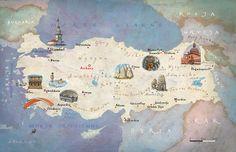 Map of Turkey by Kapitan Kamikaze - Adam Pękalski
