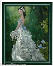 Nene Thomas Print Princess Lyrahe Bride Wedding Dress Fantasy Art Blue ...