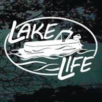 Lake Life Pontoon Boat Decal Sticker Gifts Pinterest Boat - Custom pontoon decals