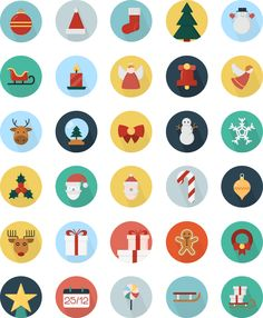 Christmas is near! Here are creative Christmas icons from Icons Mind :)