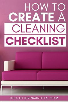 Tired of spending your entire saturday cleaning? Set up a daily, weekly, monthly cleaning list specifically for you to keep your home clean!