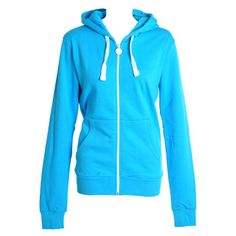 Criminal Damage Plain Skinny Fit Hoodie (Turquoise)