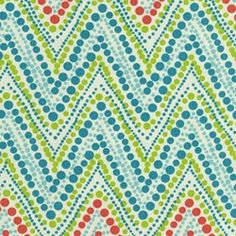Another coordinating fabric for my office - coral, turquoise, aqua, green, yellow