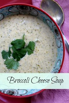 Delicious and easy broccoli cheese soup, ready in less than 30 minutes.  Great weekend supper via lifeingrace