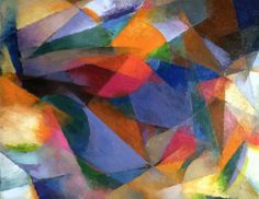 Stanton Macdonald-Wright (American, 1890-1973)   Synchromy   1917. was a modern American artist who was a co-founder of Synchromism, an early abstract, color-based mode of painting. The Orphists Robert and Sonia Delaunay) were later to claim that the Synchromists had merely borrowed the principles of color abstraction from Orphism, a point vehemently disputed by Macdonald-Wright and Russell.