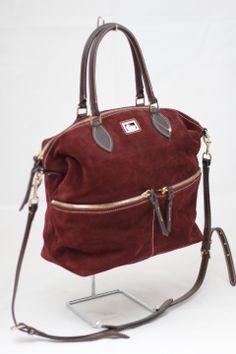 Dooney & Bourke suede bag #dooney&bourke #suedebag #oxblood #urbanitystyle #consignment