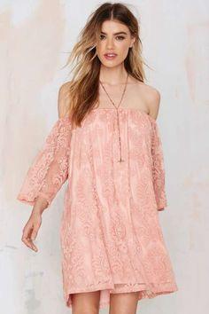 I'm So Baroque Off-the-Shoulder Lace Dress