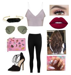 """""""Untitled #1644"""" by glamor234 on Polyvore featuring Boohoo, Vince Camuto, Moschino, BaubleBar and Lime Crime"""