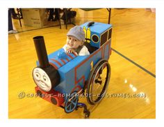 Rolling Thomas the Tank Engine Wheelchair Costume... This website is the Pinterest of costumes