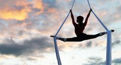 The sky is the limit! Aerial silks