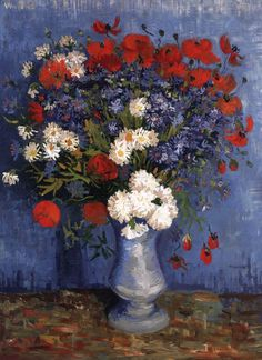 "Vincent van Gogh ""Vase with Cornflowers and Poppies""/  Summer 1887, Paris/  Oil on canvas, 80 x 67 cm/  Private collection"