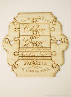 Puzzle piece wedding invitations by classicweddinginvitations.com.au