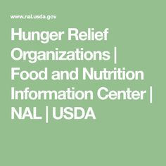 Hunger Relief Organizations   Food and Nutrition Information Center   NAL   USDA